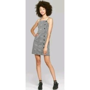 Wild Fable Houndstooth Spaghetti Strap Dress NWT